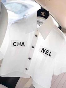 comprar popular 340b3 349f2 Blusa Chanel Lançamento Pronta Entrega