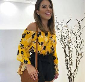 11b386c91 Blusa Ciganinha Crepe - Blusas Feminino no Mercado Livre Brasil