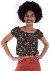 bab20cfe08 Blusa Ciganinha Floral - Blusas Feminino no Mercado Livre Brasil