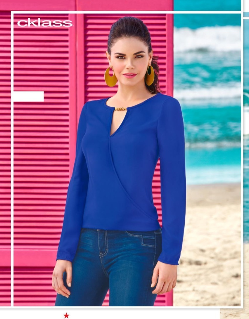 Blusa Cklass Azul Rey Otou00f1o Invierno 2016 Nueva - $ 250.00 En Mercado Libre