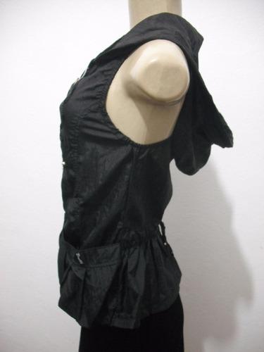 blusa colete com capuz tafetá tam m brotto usado bom estado