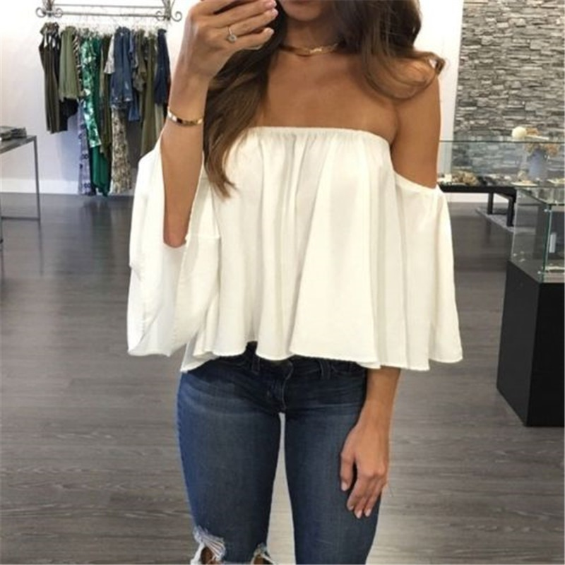 Blusa Color Blanco R109 - $ 179.00 en Mercado Libre