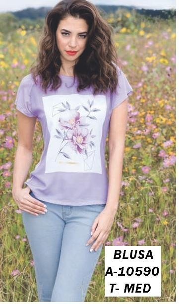 35528c7f55 Blusa Color Lavanda Estampado Flores Talla Mediana -   340.00 en ...