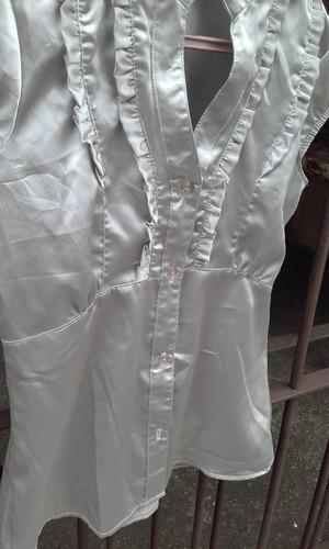 blusa connection para dama usada manga corta seda talle 36