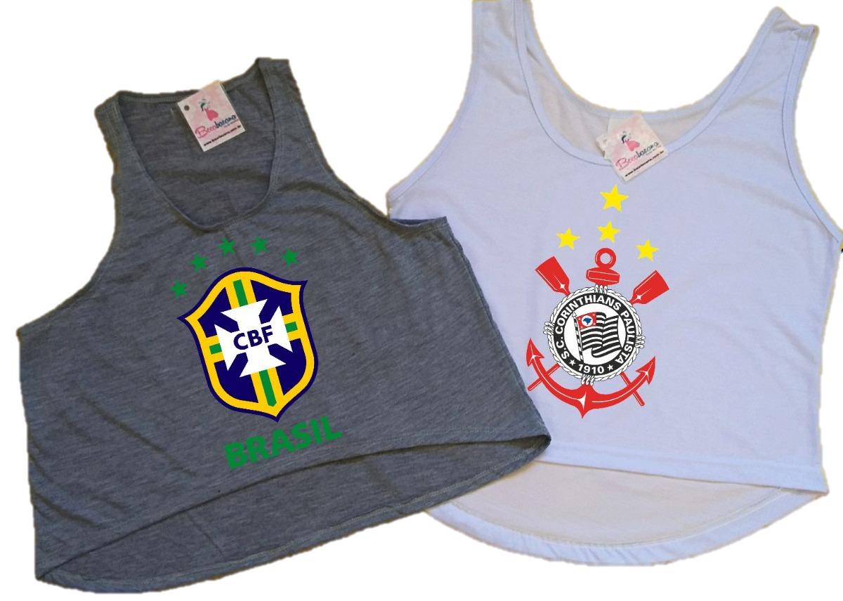 Blusa corinthians feminina regata cropped seleção brasileira carregando zoom  jpg 1200x856 Regata feminina brasileira c7756b73d2e44