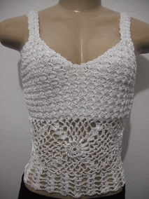 e9b00e1f3cd3f2 Croche - Blusas Femininas, Usado com o Melhores Preços no Mercado Livre  Brasil