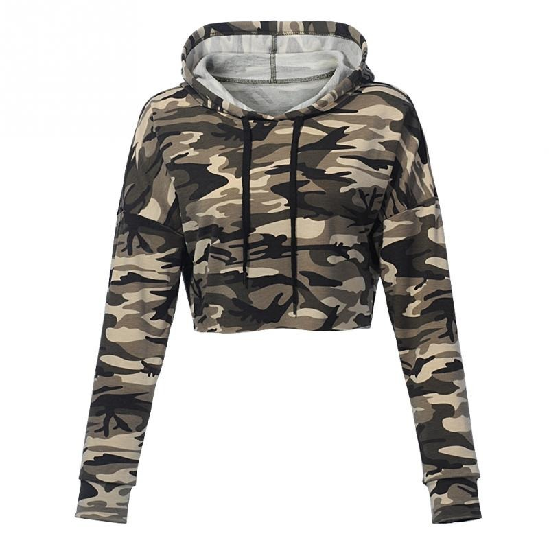 blusa cropped camuflado militar com capuz. Carregando zoom. 1c1e97e5a7a