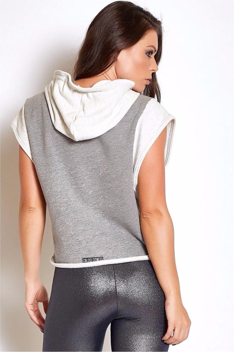bb2014c60 blusa cropped feminina fitness capuz marca colcci original. Carregando zoom.