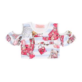 05bee1704b61 Blusa Ciganinha Cropped Infantil - Calçados, Roupas e Bolsas com o Melhores  Preços no Mercado Livre Brasil