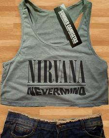 4547ae2882 Cropped Nirvana - Camisetas e Blusas Cropped Feminino no Mercado Livre  Brasil
