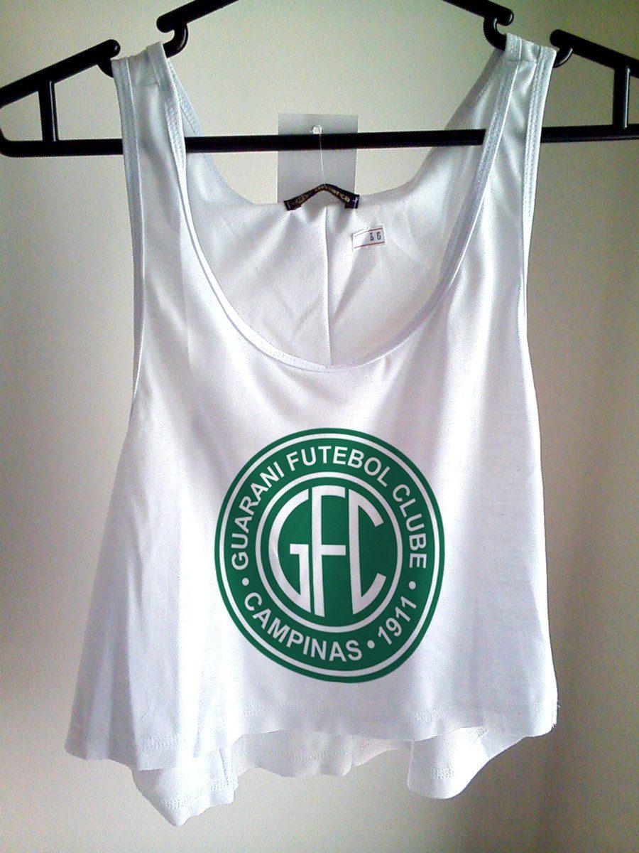 Blusa Cropped Guarani Fc Feminina Regata Cavada Camiseta - R  25 5fb9f0e698cb6