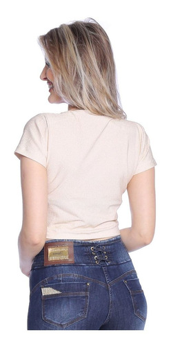 blusa cropped zigma de lurex