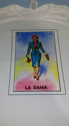 blusa dama lotería mexicana