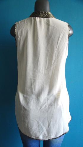 blusa dama manga corta en tela chifon