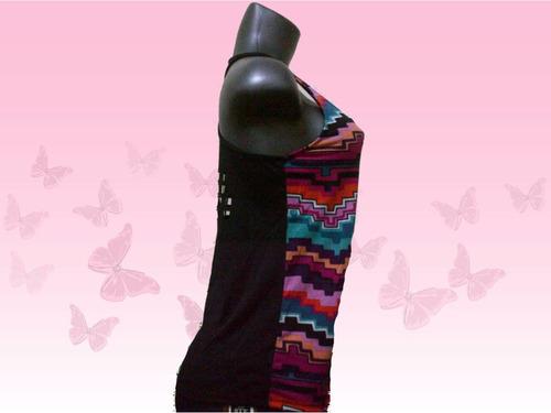 blusa dama tipo franelilla en tela algodon,talla m y l.