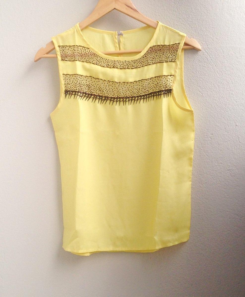c97fc9dd6c blusa de cetim amarela com transparência - feminina - nova. Carregando zoom.