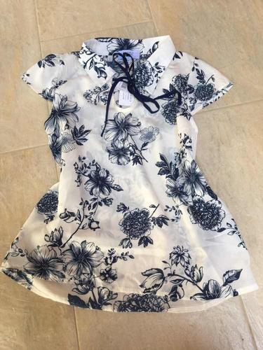 blusa de chifon de dama elegante talla s importada