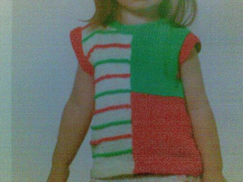 blusa de colores tejida a mano