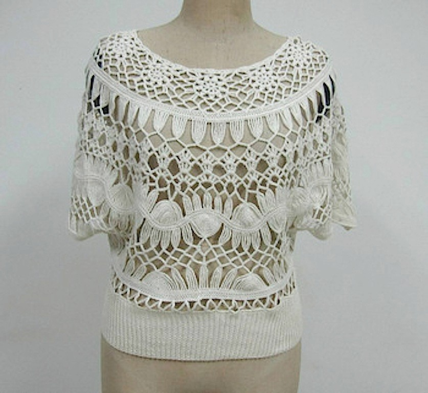37a2e7a187 blusa de crochê decote canoa renda 100% feita a mão. Carregando zoom.