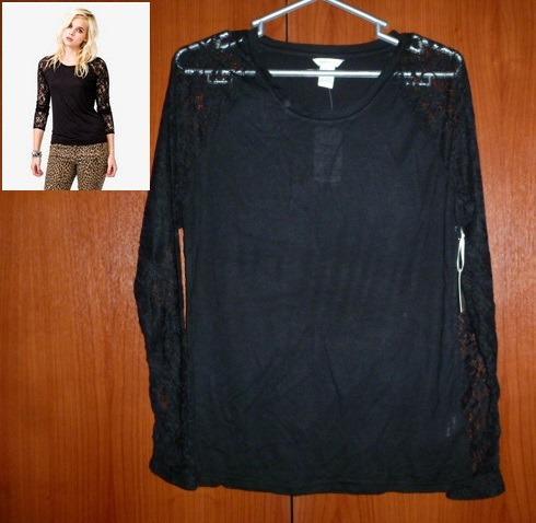 blusa de cruz y negra-forever21