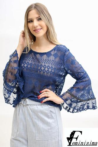 blusa de encaje importada