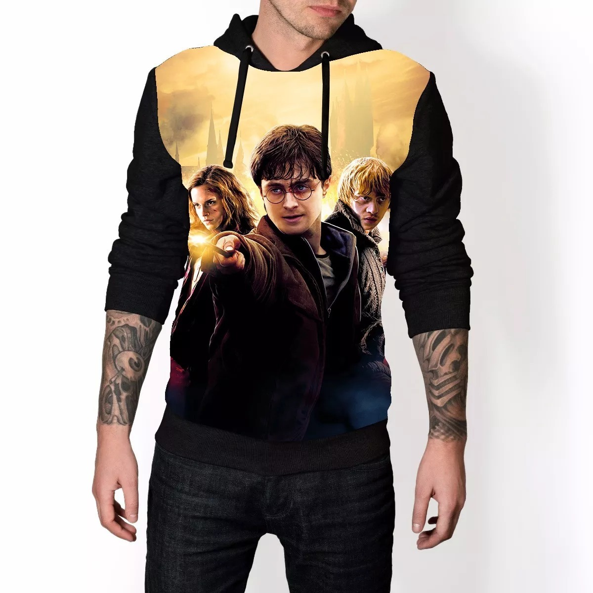 9fec336e9 blusa de frio 3d harry potter estampa full moletom ref 79. Carregando zoom.