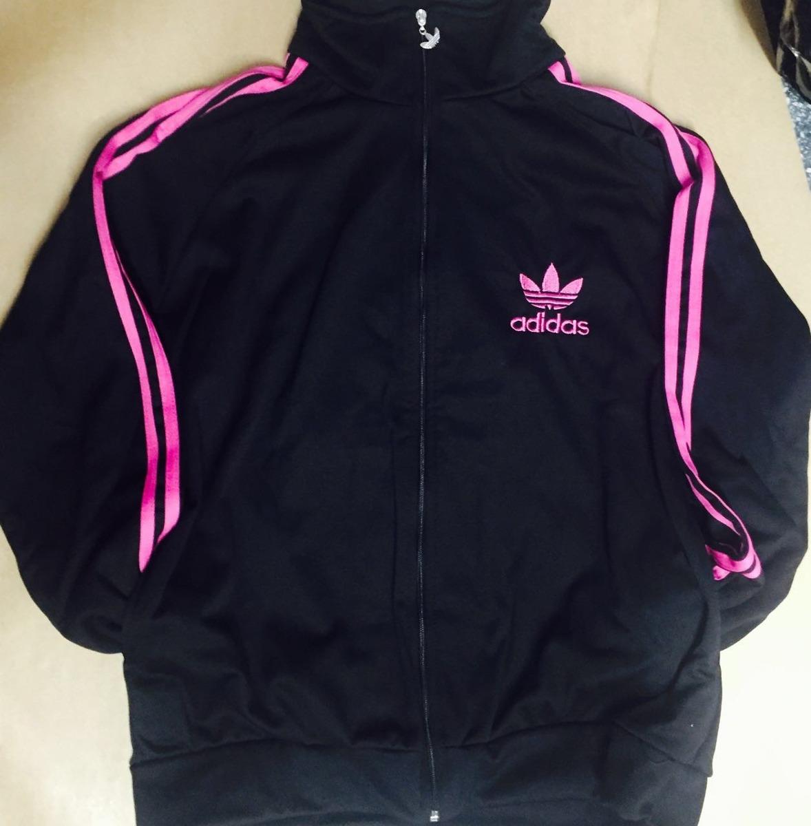 b3c18d91bb7 casaco adidas preto e rosa