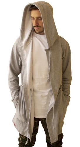 blusa de frio cardigan masculino b21 ajuste cintura e capuz
