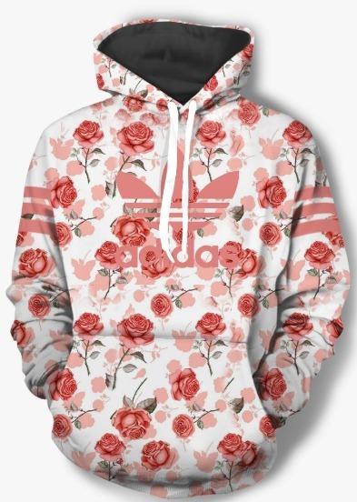 50457bbf7f2 Blusa De Frio Casaco Moletom adidas Florida Floral - R  139