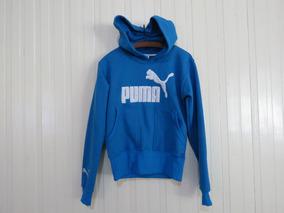 92ad7cd8e51e1 Blusa Moletom Puma Azul E Branco - Calçados, Roupas e Bolsas no Mercado  Livre Brasil