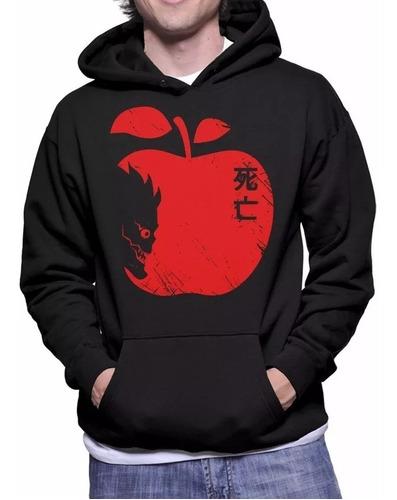 blusa de frio death note maçã super promoção