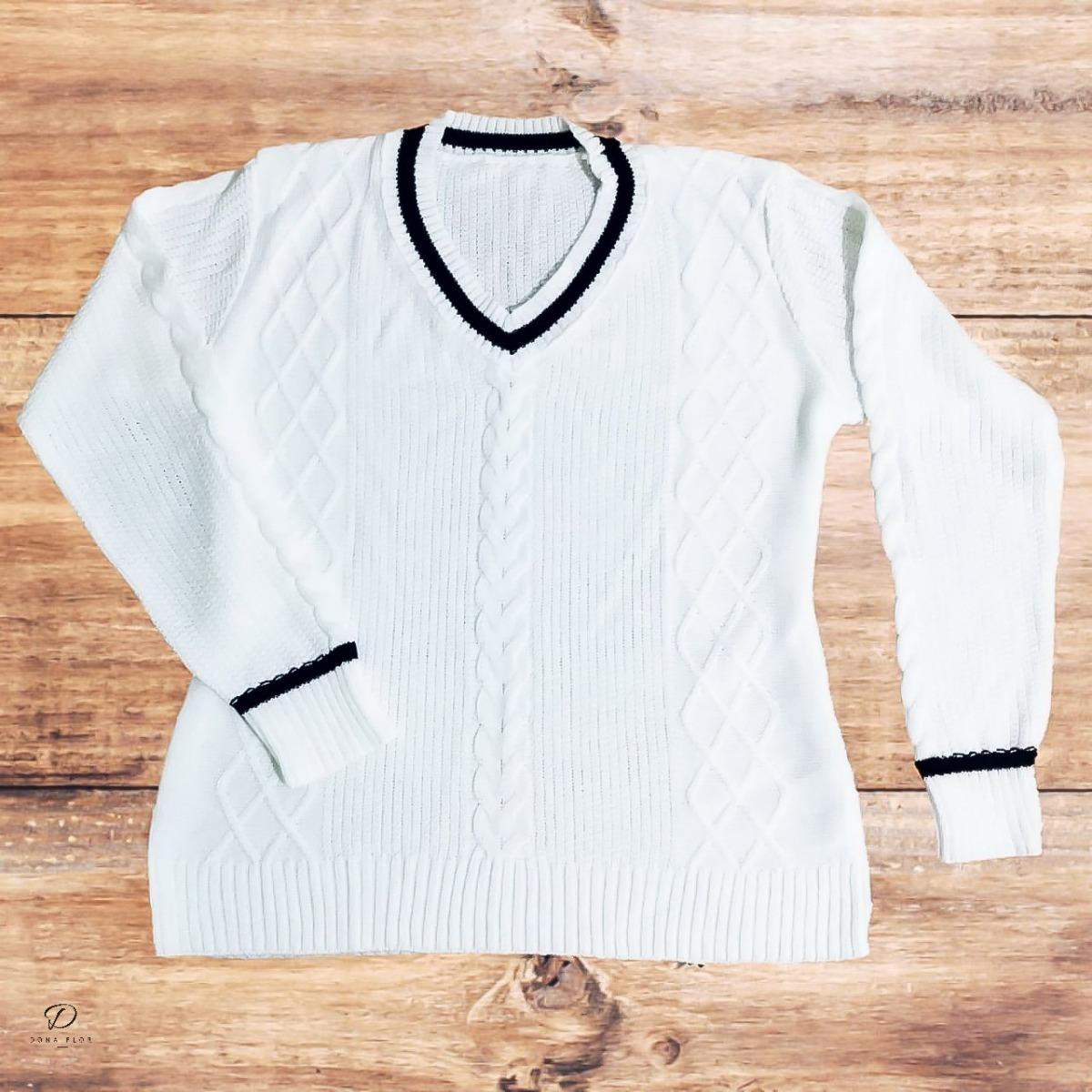 8eb59395cd blusa de frio em tricot tricô manga longa feminina colegial. Carregando zoom .