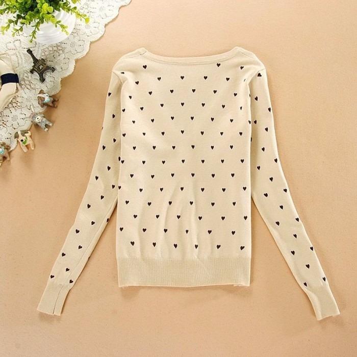 e75c09fbbb Blusa De Frio Feminina Cardigan Suéter Lã Trico Coração - R  37
