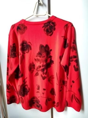 blusa de frio feminina cardigan vermelha tam m