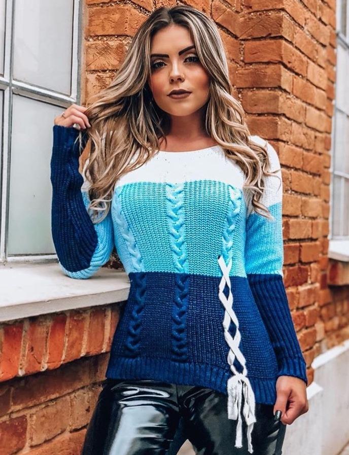 d2d620db5 blusa de frio feminina tricot variados modelo kit 5 atacado. Carregando  zoom.
