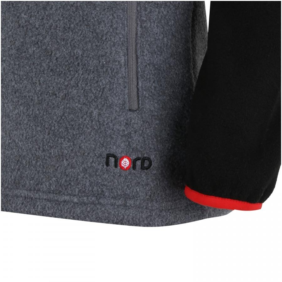 3782eb9c961ef blusa de frio fleece nord outdoor bicolor - cinza esc preto. Carregando  zoom.