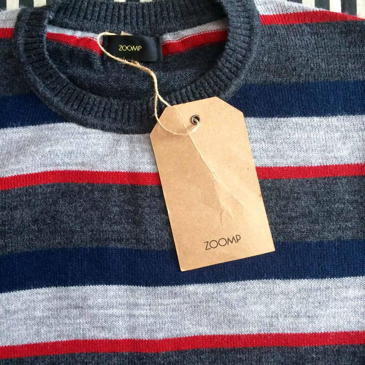 e7715c4ca Blusa De Frio (lã) Masculina Zoomp. Suéter Listrado - R  99