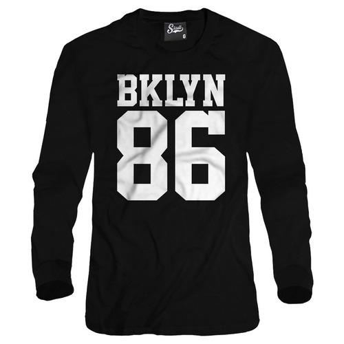 blusa de frio masculina inverno brooklyn 86 basquete nba rap