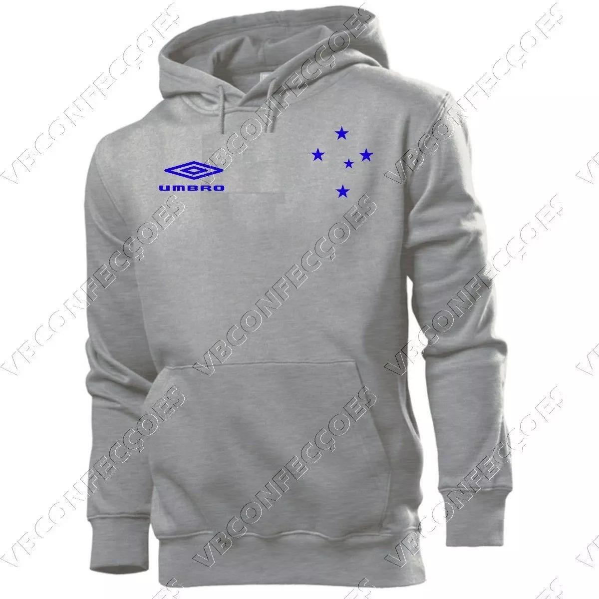 blusa de frio moletom cruzeiro futebol. Carregando zoom. d4b701c7eb49f
