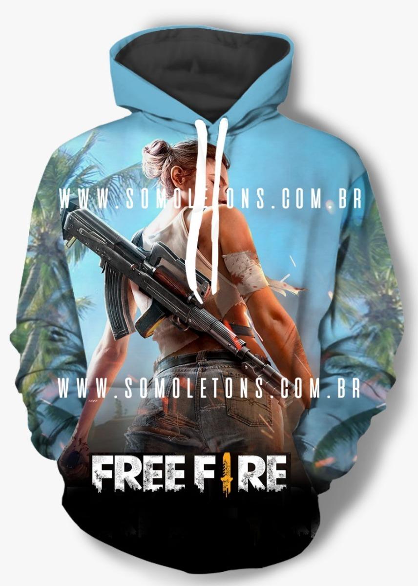 Blusa De Frio Moletom Free Fire Game Frete Gratis