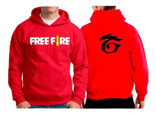 blusa de frio moletom free fire garena