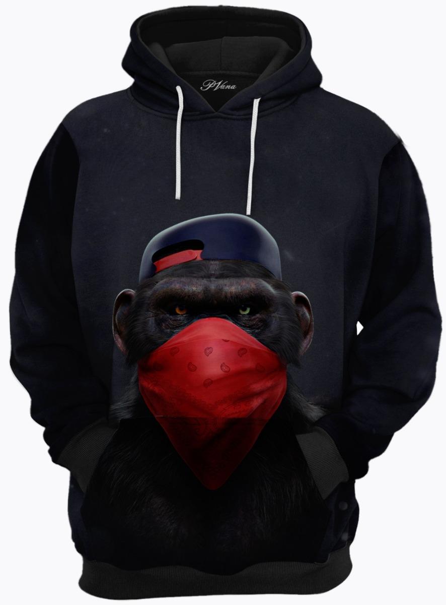 Blusa De Frio Moletom Macaco Rap - R  169 ec905d22151