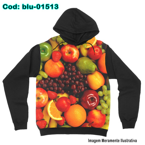 blusa de frio moletom unissex chef -frutas