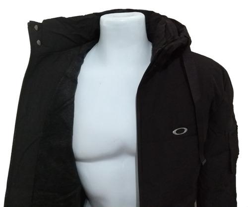 blusa de frio oakley preta touca e ziper jaqueta/bombojaco