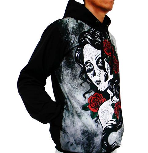 blusa de frio printfull catrina moletom masculino e feminino