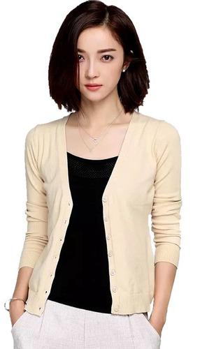 blusa de frio tricô  feminino cardigan casaquinho liso
