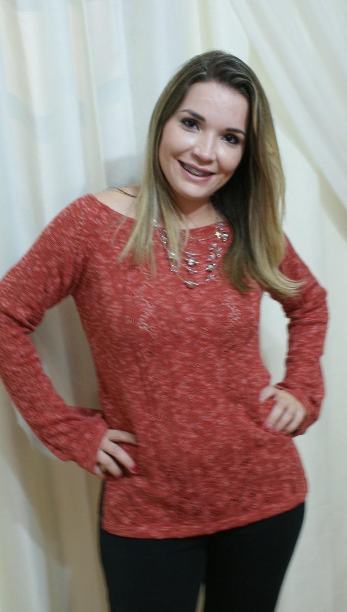 035c55acda blusa de frio tricot linha crochê manga longa feminina flare. Carregando  zoom.