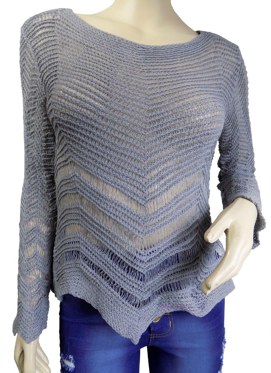 5c57ed5734 blusa de frio tricot trico croche linha feminina cordão tira. Carregando  zoom.