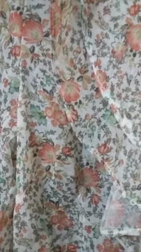blusa de gasa hindu con florcitas y volados estilo romantico
