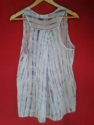 blusa de gasa sin mangas